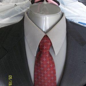 HHR5- Jos A Bank Gray Pinstripe Suit